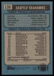 1988 Topps #130   -  Curt Warner / Steve Largent / Kenny Easley / Jacob Green / Fredd Young Seahawks Leaders Back Thumbnail