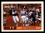 1989 Topps #40   -  Jim Kelly / Thurman Thomas / Andre Reed / Mark Kelso / Bruce Smith / Ray Bentley Bills Leaders Front Thumbnail
