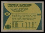 1989 Topps #68  Thomas Sanders  Back Thumbnail