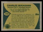 1989 Topps #142  Charles Buchanan  Back Thumbnail