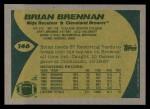 1989 Topps #146  Brian Brennan  Back Thumbnail