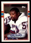 1989 Topps #168  Carl Banks  Front Thumbnail