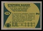 1989 Topps #174  Stephen Baker  Back Thumbnail