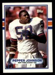 1989 Topps #176  Pepper Johnson  Front Thumbnail