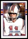 1989 Topps #201  Tony Eason  Front Thumbnail