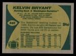 1989 Topps #261  Kelvin Bryant  Back Thumbnail