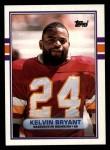 1989 Topps #261  Kelvin Bryant  Front Thumbnail