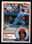 1983 Topps #337  Tito Landrum  Front Thumbnail
