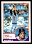 1983 Topps #341  Doug DeCinces  Front Thumbnail