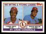 1983 Topps #561   -  Joaquin Andujar / Lonnie Smith Cardinals Leaders Front Thumbnail