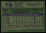 1982 Topps #19  Ernie Whitt  Back Thumbnail