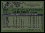 1982 Topps #433  Alan Ashby  Back Thumbnail