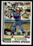 1982 Topps #198  Chris Speier  Front Thumbnail