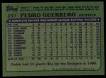 1982 Topps #247  Pedro Guerrero  Back Thumbnail