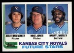 1982 Topps #471   -  Darryl Motley / Atlee Hammaker / Mike Jones Royals Rookies Front Thumbnail