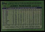 1982 Topps #33  Jerry Morales  Back Thumbnail