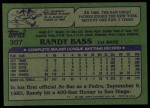 1982 Topps #307  Randy Bass  Back Thumbnail