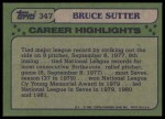 1982 Topps #347   -  Bruce Sutter All-Star Back Thumbnail