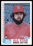 1982 Topps #347   -  Bruce Sutter All-Star Front Thumbnail