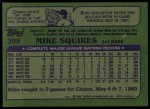 1982 Topps #398  Mike Squires  Back Thumbnail