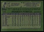 1982 Topps #584  Hosken Powell  Back Thumbnail