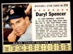 1961 Post Cereal #173 BOX Daryl Spencer   Front Thumbnail