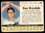 1961 Post Cereal #160 COM Don Drysdale   Front Thumbnail