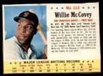 1963 Post Cereal #112  Willie McCovey  Front Thumbnail