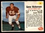 1962 Post Cereal #66  Gene Hickerson  Front Thumbnail