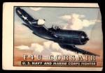 1952 Topps Wings #34   F4U Corsair Front Thumbnail