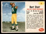 1962 Post Cereal #12  Bart Starr  Front Thumbnail