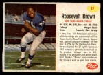 1962 Post Cereal #17  Roosevelt Brown  Front Thumbnail