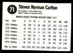 1979 Hostess #71  Steve Carlton  Back Thumbnail
