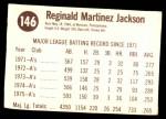 1976 Hostess #146  Reggie Jackson  Back Thumbnail