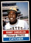 1976 Hostess #72  Manny Sanguillen  Front Thumbnail
