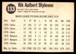 1979 Hostess #133  Bert Blyleven  Back Thumbnail