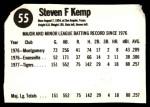 1978 Hostess #55  Steve Kemp  Back Thumbnail