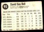 1976 Hostess #95  Buddy Bell  Back Thumbnail