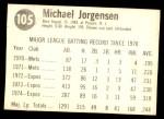 1975 Hostess #105  Mike Jorgensen  Back Thumbnail