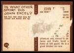 1967 Philadelphia #177  John Thomas  Back Thumbnail