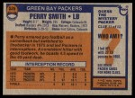 1976 Topps #526  Perry Smith   Back Thumbnail