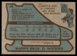 1979 Topps #35  Barry Beck  Back Thumbnail