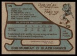 1979 Topps #55  Bob Murray  Back Thumbnail