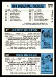 1980 Topps   -  Wes Unseld / Geoff Huston / John Drew 251 / 67 / 5 Back Thumbnail