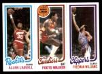 1980 Topps   -  Allen Leavell / Foots Walker / Freeman Williams 106 / 53 / 223 Front Thumbnail