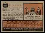 1962 Topps #562  Bill Henry  Back Thumbnail