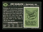 1969 Topps #100  Joe Namath  Back Thumbnail