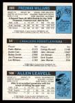 1980 Topps   -  Allen Leavell / Foots Walker / Freeman Williams 106 / 53 / 223 Back Thumbnail