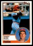 1983 Topps Traded #17 T Randy Bush  Front Thumbnail