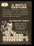 1966 Topps Batman - Riddler Back #7   Batly Gesture Back Thumbnail